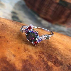 Jewelry - Mystic Rainbow SS925 Rings Sz 6 7 8 9